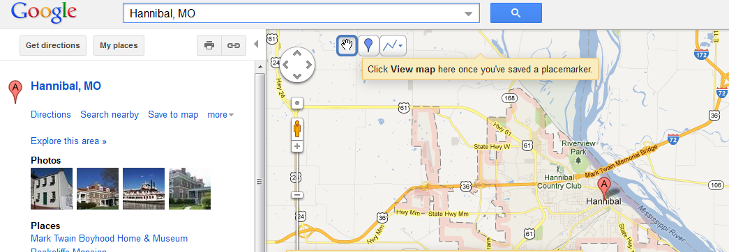 DH Lab #2: Google Maps and Huck Finn | Doing DH at the CC