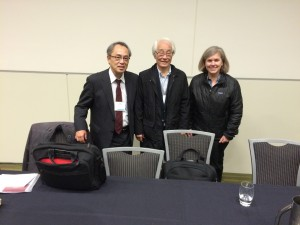 With Toru Kiuchi and Yoshinobu Hakutani after our panel.
