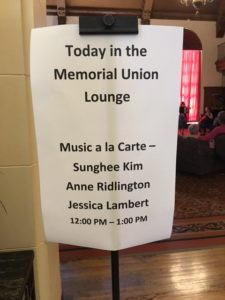 Lunchtime Concert Sign