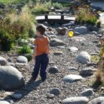 By incorporating natural creek bed elements, Lane successfully created a outdoor playground