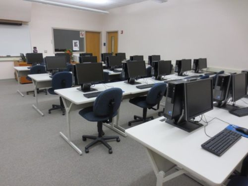 The Math Computer Lab is ran more efficiently to help reduce Lane's carbon footprint