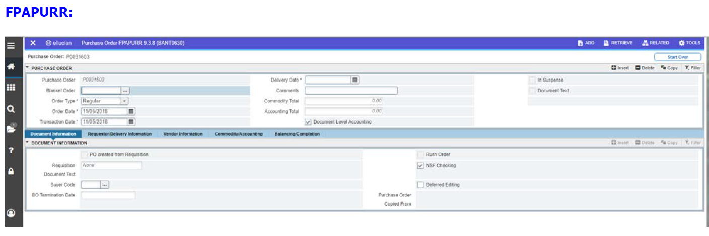 How to Delete a Purchase Order in Banner 9 – Lane IT
