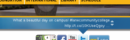 Dispaying a recent tweet about the beautiful weather we had on campus Friday.
