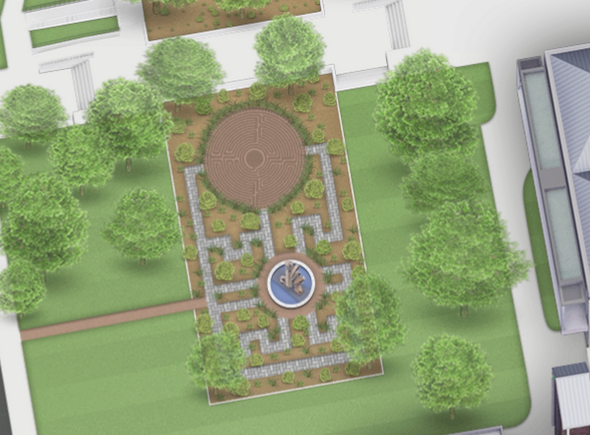West Entrance Garden Labyrinth