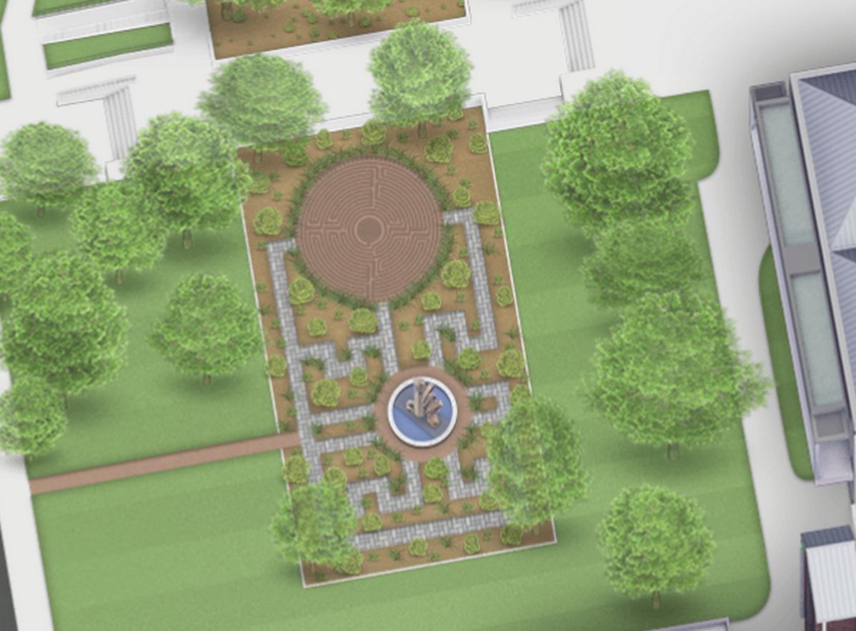 West Entrance Garden Labyrinth